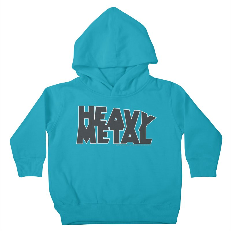 Heavy Metal Black Logo Kids Toddler Pullover Hoody by Heavy Metal Magazine