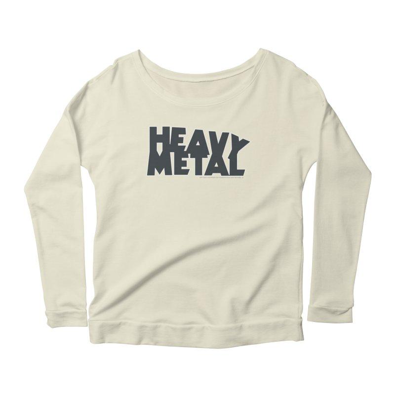 Heavy Metal Black Logo Women's Scoop Neck Longsleeve T-Shirt by Heavy Metal Magazine