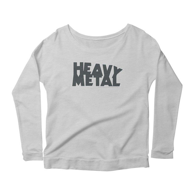 Heavy Metal Black Logo Women's Longsleeve Scoopneck  by Heavy Metal Magazine