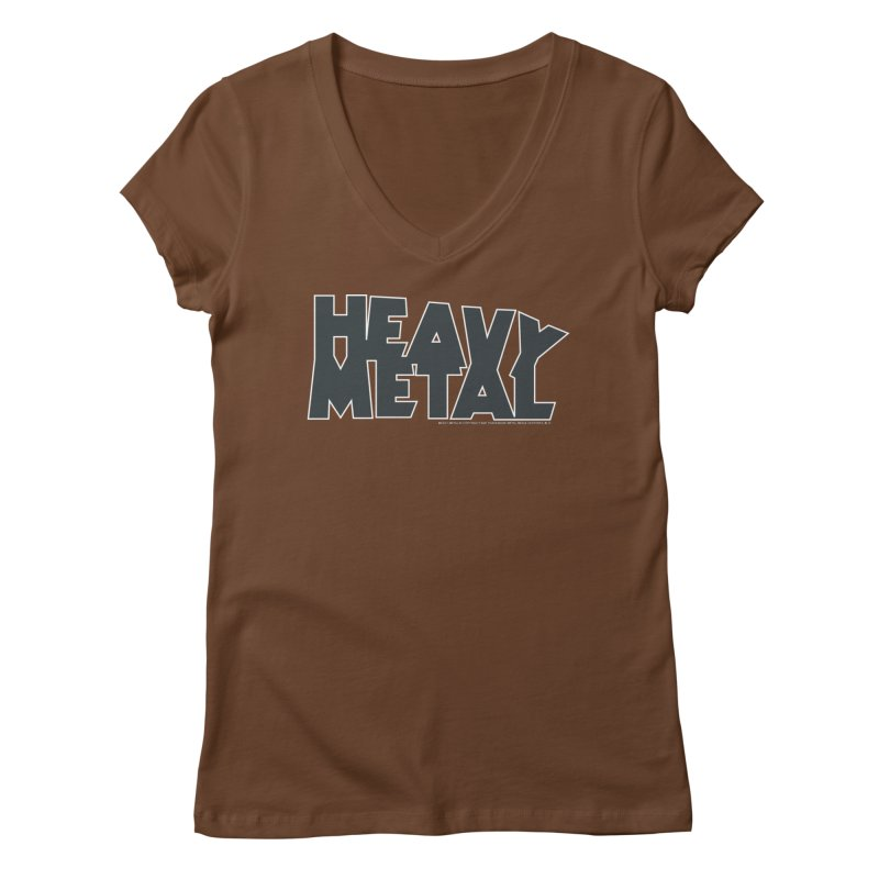 Heavy Metal Black Logo Women's Regular V-Neck by Heavy Metal Magazine