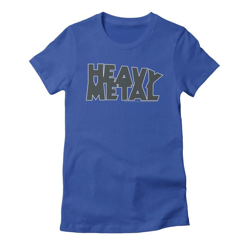 Heavy Metal Black Logo Women's Fitted T-Shirt by Heavy Metal Magazine