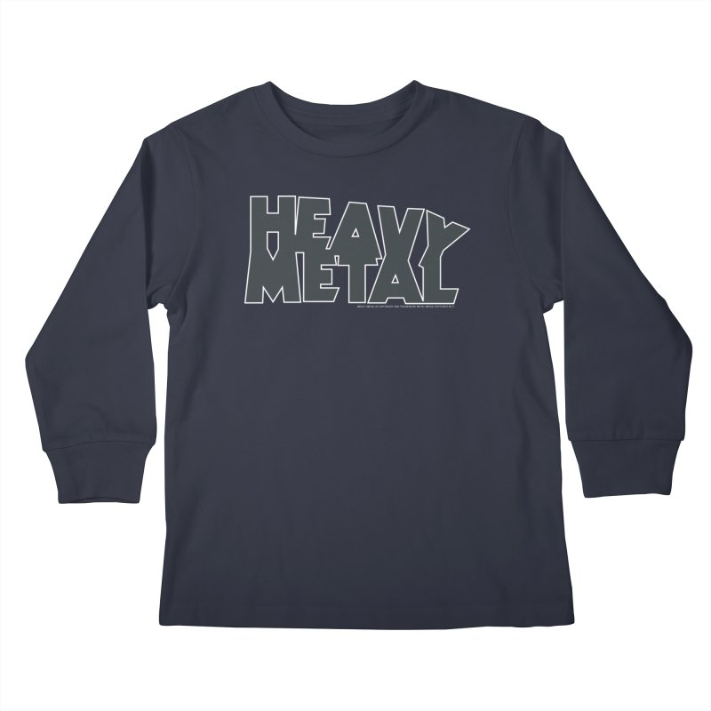 Heavy Metal Black Logo Kids Longsleeve T-Shirt by Heavy Metal Magazine