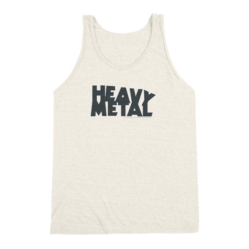 Heavy Metal Black Logo Men's Triblend Tank by Heavy Metal Magazine