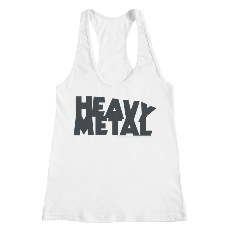 Heavy Metal Black Logo Women's Racerback Tank by Heavy Metal Magazine