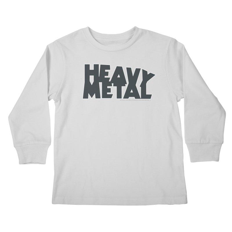 Heavy Metal Black Logo Kids Longsleeve T-Shirt by Heavy Metal Magazine