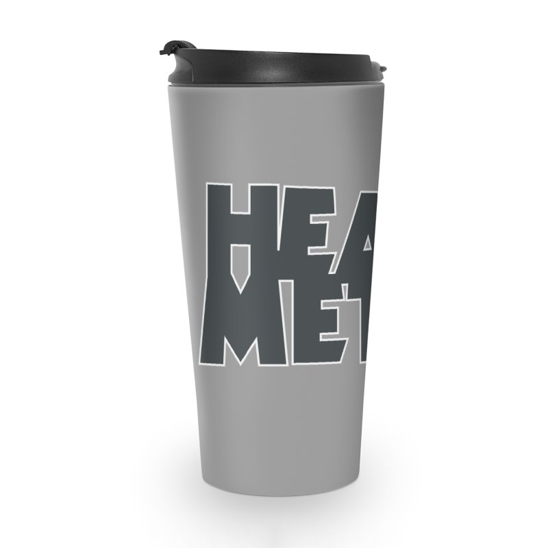 Heavy Metal Black Logo Accessories Travel Mug by Heavy Metal Magazine