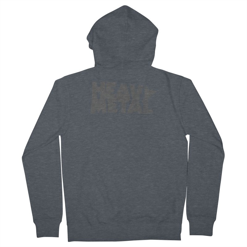 Heavy Metal Distressed Men's French Terry Zip-Up Hoody by Heavy Metal Magazine