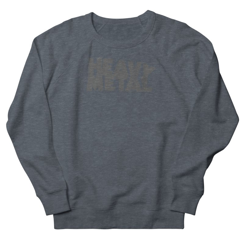 Heavy Metal Distressed Women's French Terry Sweatshirt by Heavy Metal Magazine