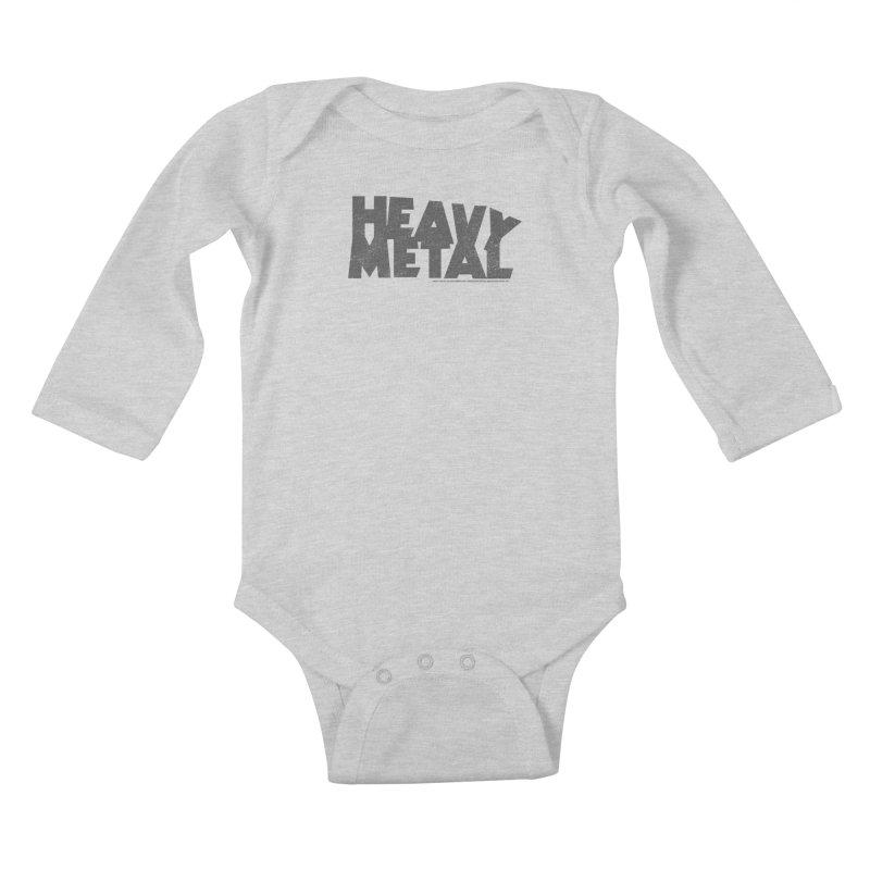 Heavy Metal Distressed Kids Baby Longsleeve Bodysuit by Heavy Metal Magazine