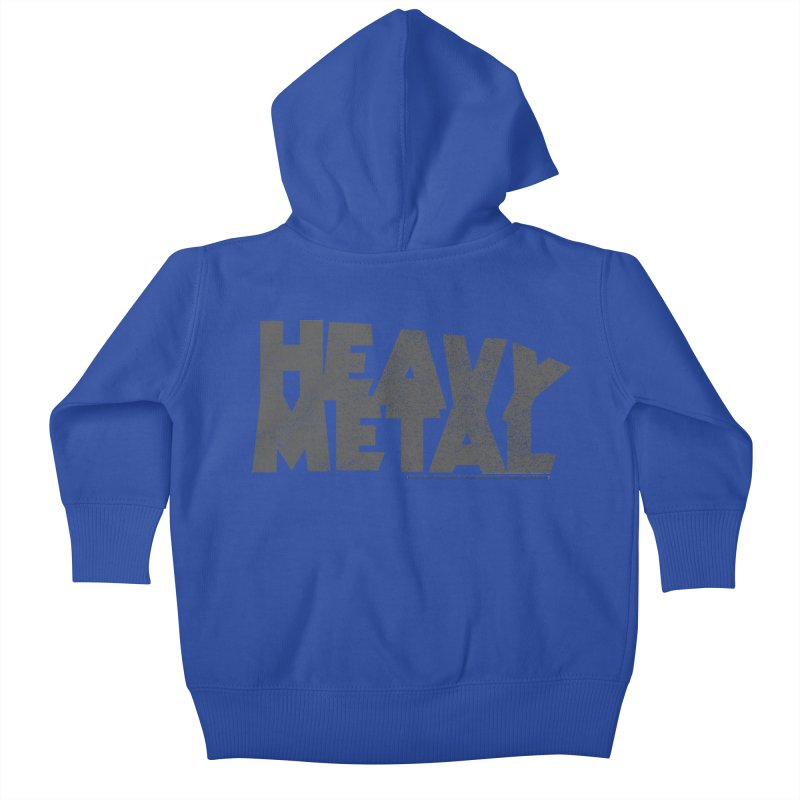 Heavy Metal Distressed Kids Baby Zip-Up Hoody by Heavy Metal Magazine