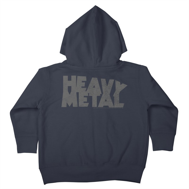 Heavy Metal Distressed Kids Toddler Zip-Up Hoody by Heavy Metal Magazine