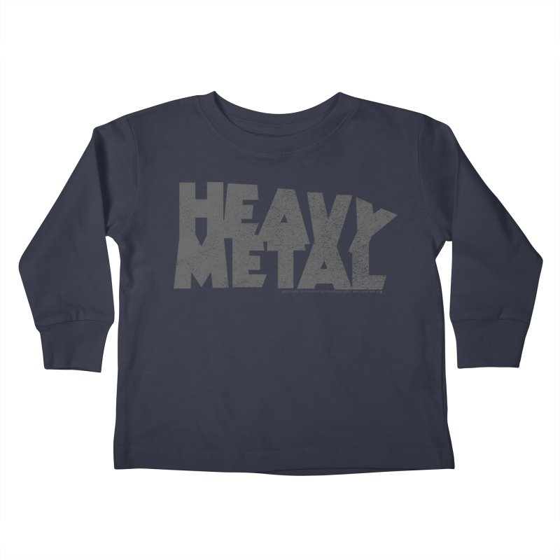 Heavy Metal Distressed Kids Toddler Longsleeve T-Shirt by Heavy Metal Magazine