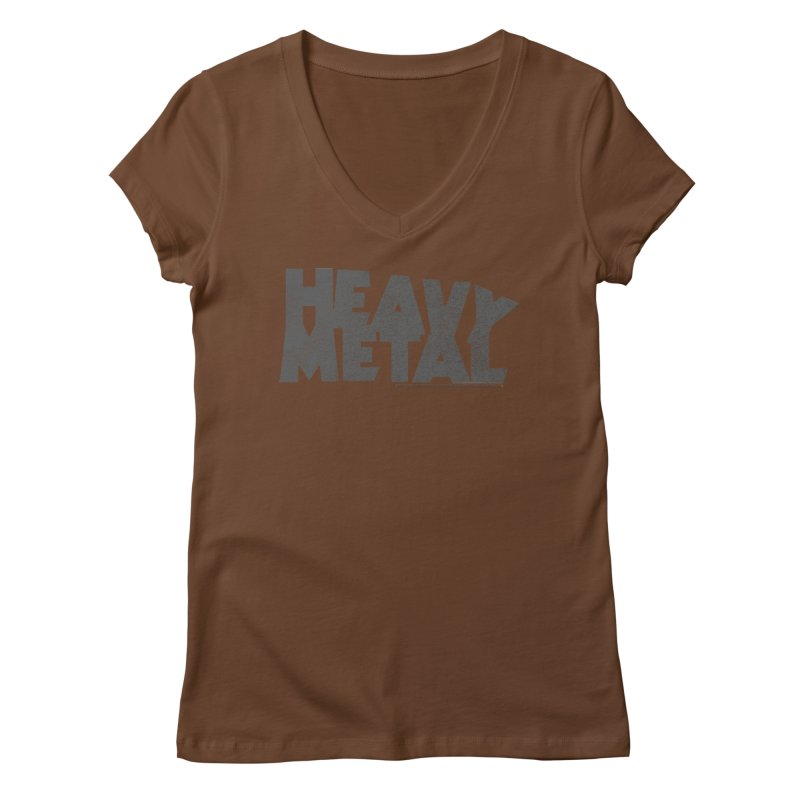 Heavy Metal Distressed Women's V-Neck by Heavy Metal Magazine