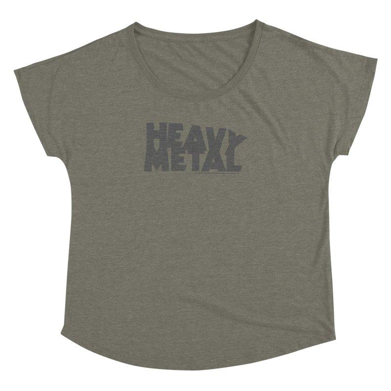 Heavy Metal Distressed Women's Dolman Scoop Neck by Heavy Metal Magazine