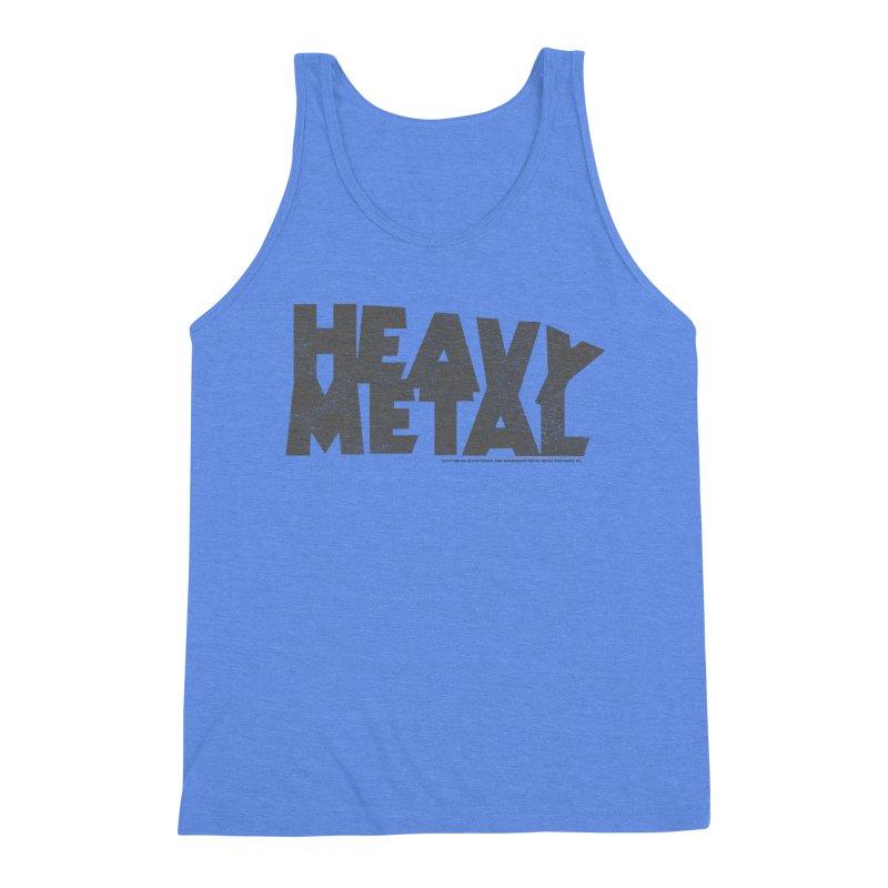 Heavy Metal Distressed Men's Triblend Tank by Heavy Metal Magazine
