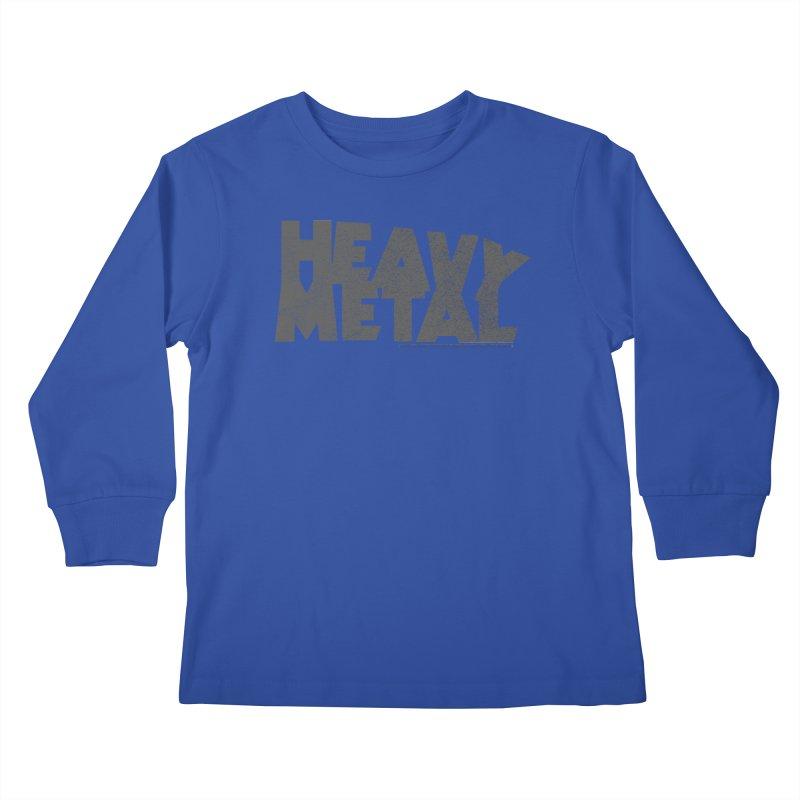 Heavy Metal Distressed Kids Longsleeve T-Shirt by Heavy Metal Magazine