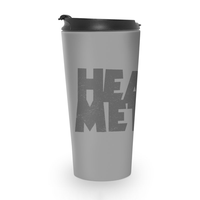 Heavy Metal Distressed Accessories Travel Mug by Heavy Metal Magazine