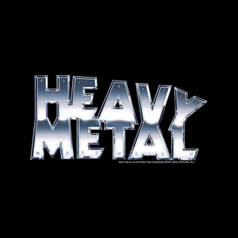 Heavy Metal Chrome Logo v2 Men's Zip-Up Hoody by Heavy Metal Magazine