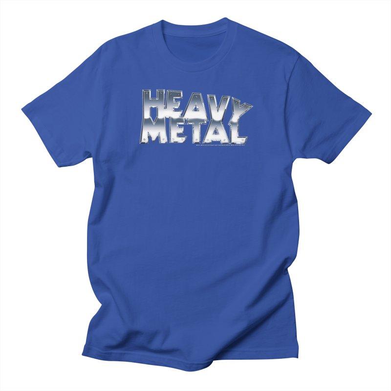 Heavy Metal Chrome Logo v2 Men's T-Shirt by Heavy Metal Magazine