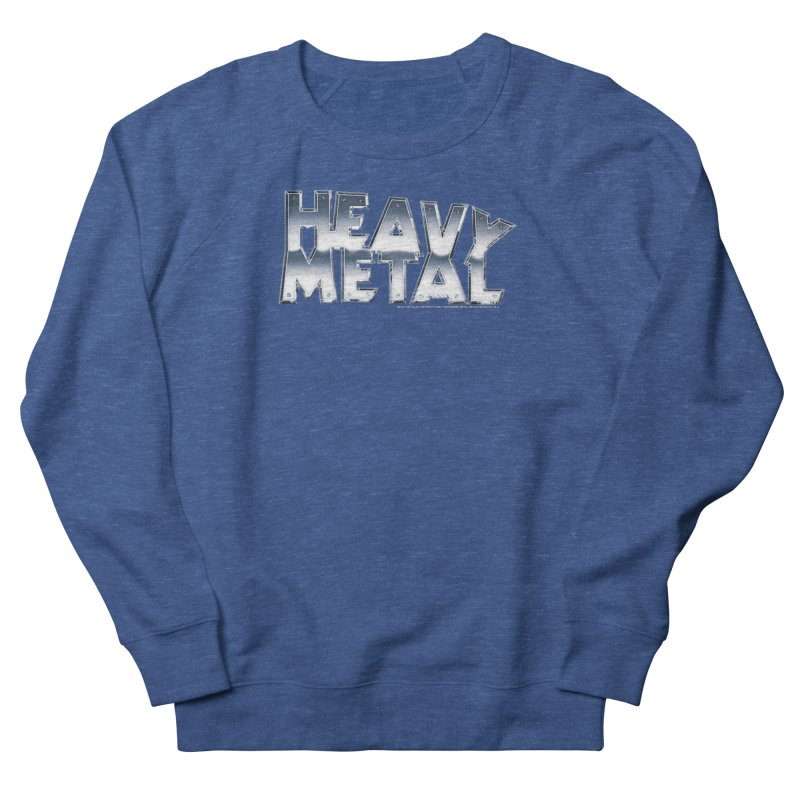 Heavy Metal Chrome Logo v2 Men's Sweatshirt by Heavy Metal Magazine