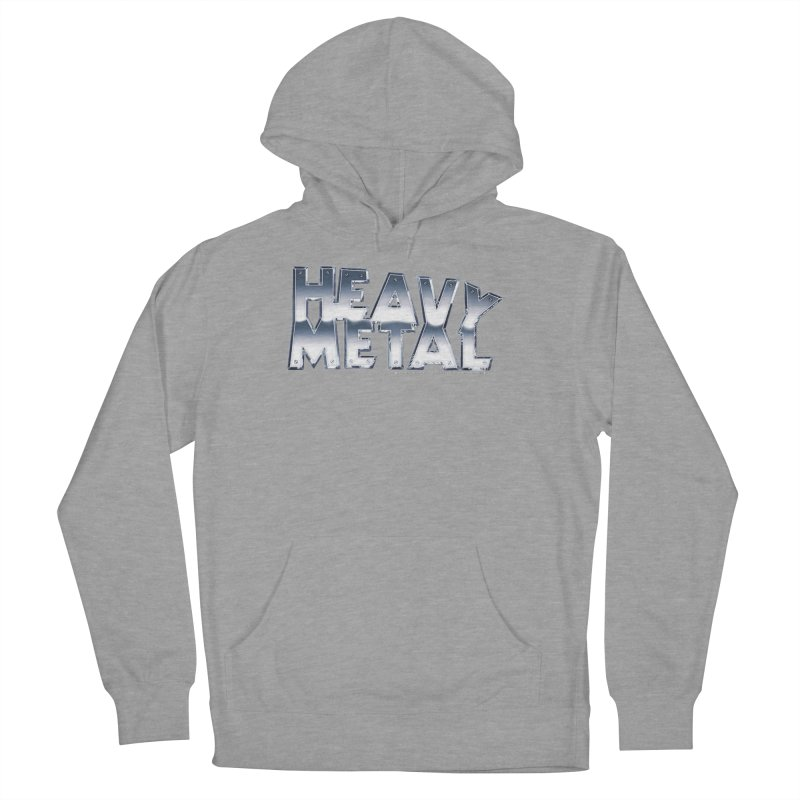 Heavy Metal Chrome Logo v2 Women's French Terry Pullover Hoody by Heavy Metal Magazine