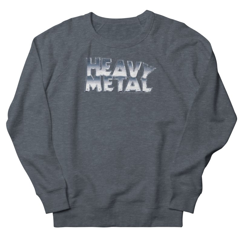 Heavy Metal Chrome Logo v2 Men's French Terry Sweatshirt by Heavy Metal Magazine