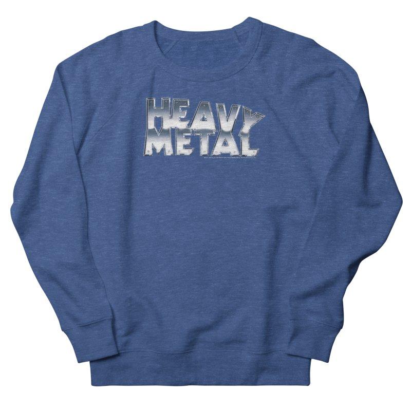 Heavy Metal Chrome Logo v2 Men's French Terry Sweatshirt by Heavy Metal Magazine