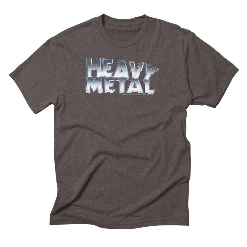 Heavy Metal Chrome Logo v2 Men's Triblend T-Shirt by Heavy Metal Magazine