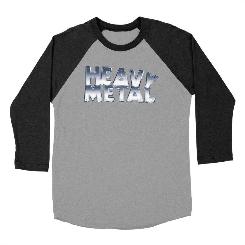 Heavy Metal Chrome Logo v2 Men's Baseball Triblend Longsleeve T-Shirt by Heavy Metal Magazine