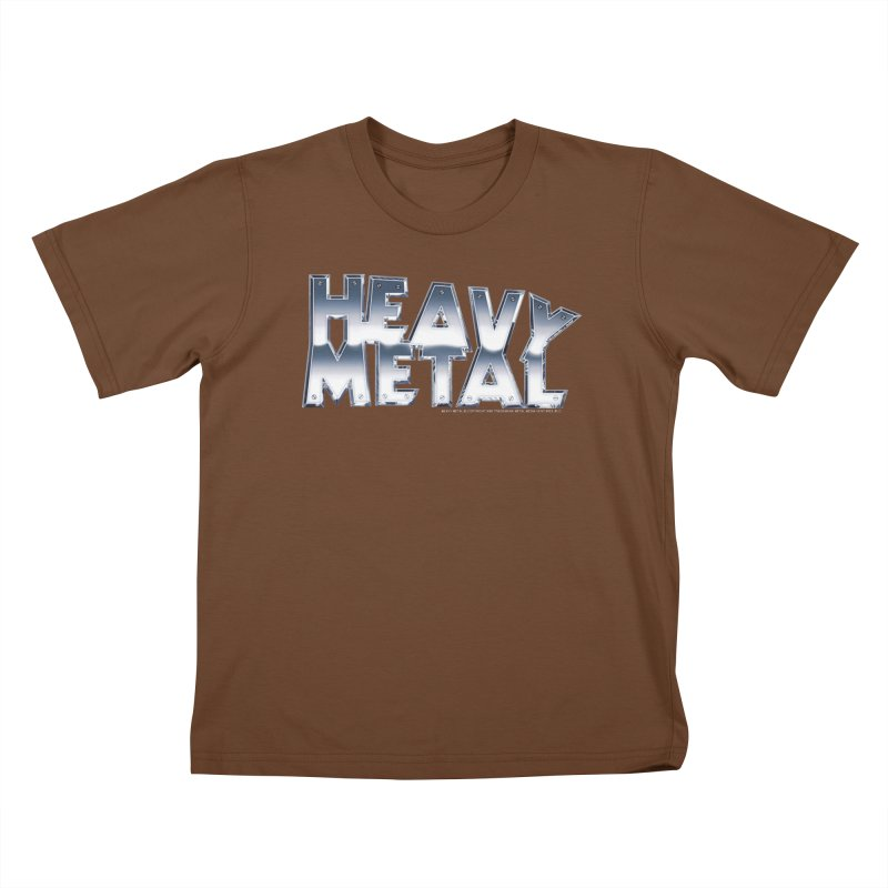 Heavy Metal Chrome Logo v2 Kids T-Shirt by Heavy Metal Magazine