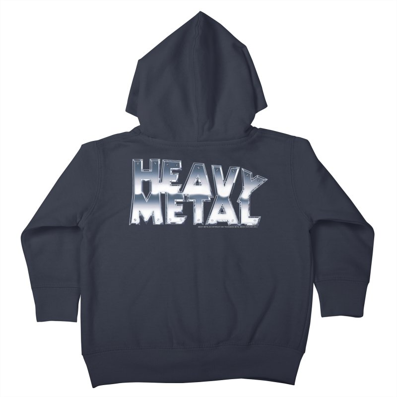 Heavy Metal Chrome Logo v2 Kids Toddler Zip-Up Hoody by Heavy Metal Magazine