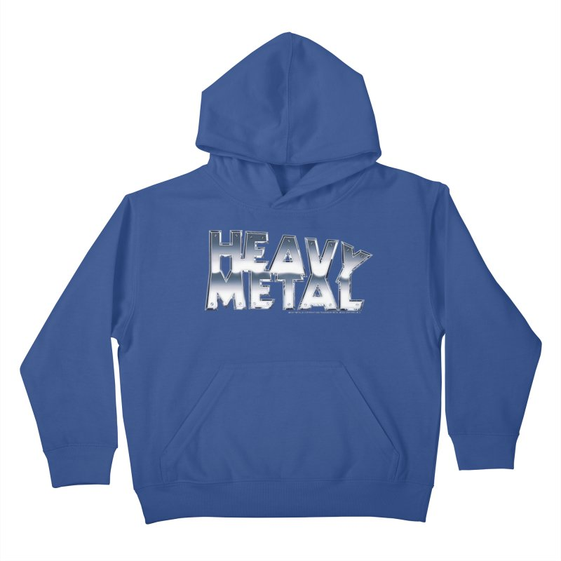 Heavy Metal Chrome Logo v2 Kids Pullover Hoody by Heavy Metal Magazine