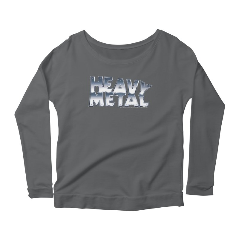Heavy Metal Chrome Logo v2 Women's Scoop Neck Longsleeve T-Shirt by Heavy Metal Magazine