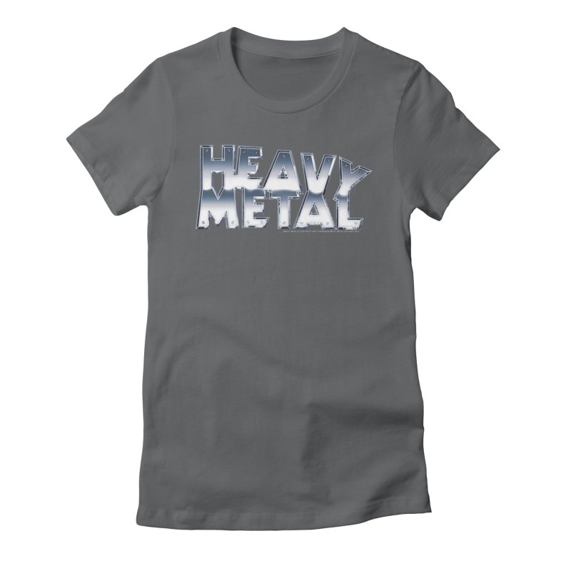 Heavy Metal Chrome Logo v2 Women's Fitted T-Shirt by Heavy Metal Magazine