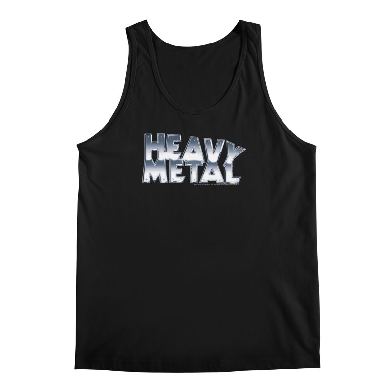 Heavy Metal Chrome Logo v2 Men's Regular Tank by Heavy Metal Magazine