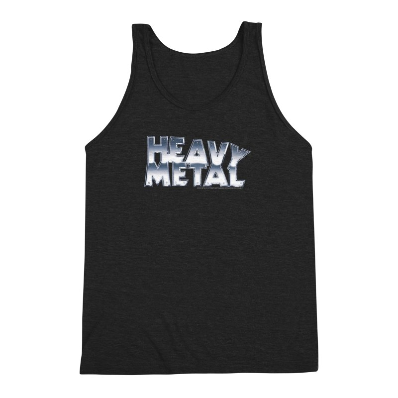 Heavy Metal Chrome Logo v2 Men's Triblend Tank by Heavy Metal Magazine