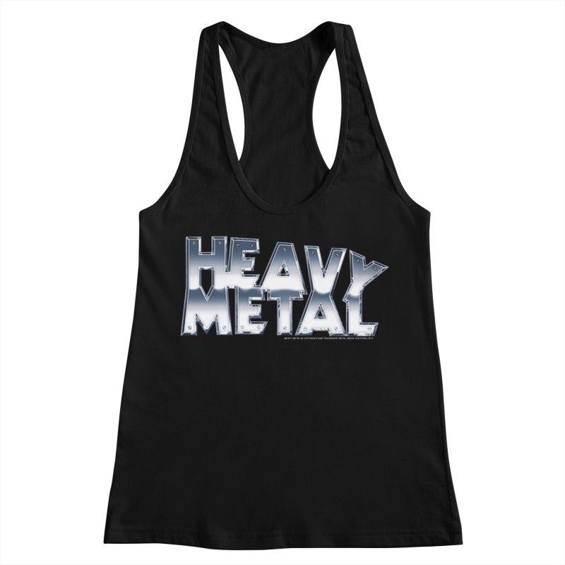 Heavy Metal Chrome Logo v2 Women's Racerback Tank by Heavy Metal Magazine