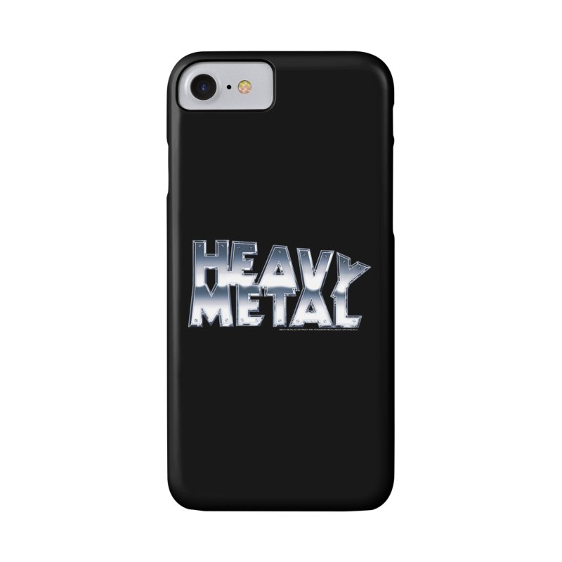 Heavy Metal Chrome Logo v2 Accessories Phone Case by Heavy Metal Magazine