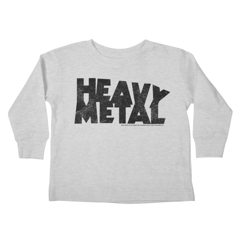 Heavy Metal Black Distressed Logo Kids Toddler Longsleeve T-Shirt by Heavy Metal Magazine