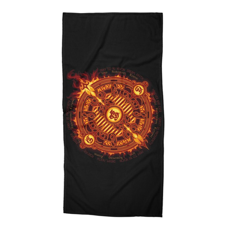Ifrit Seal Accessories Beach Towel by hechicero's Magic Shop