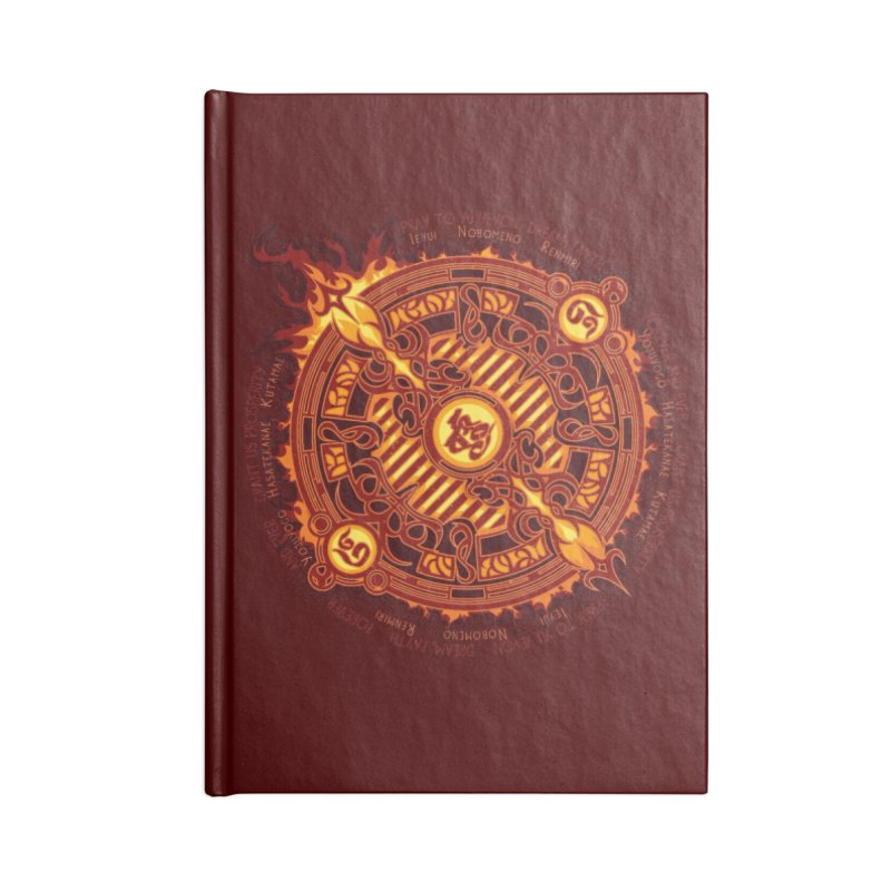 Ifrit Seal Accessories Blank Journal Notebook by hechicero's Magic Shop