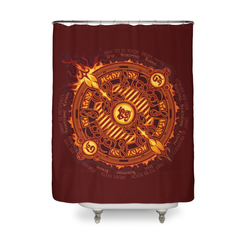 Ifrit Seal Home Shower Curtain by hechicero's Magic Shop