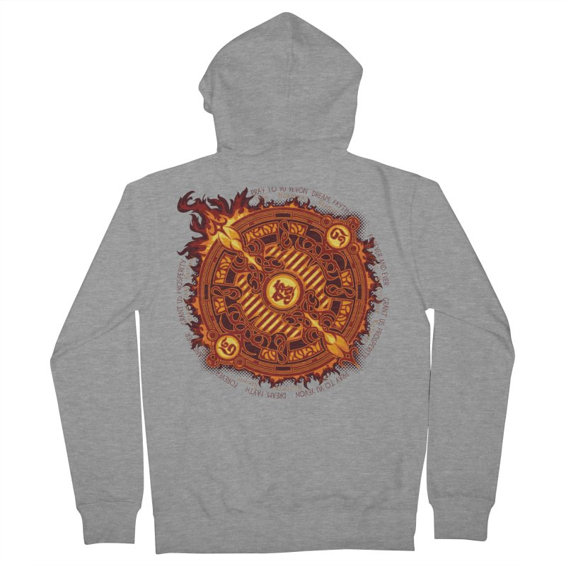 Ifrit Seal Women's French Terry Zip-Up Hoody by hechicero's Magic Shop