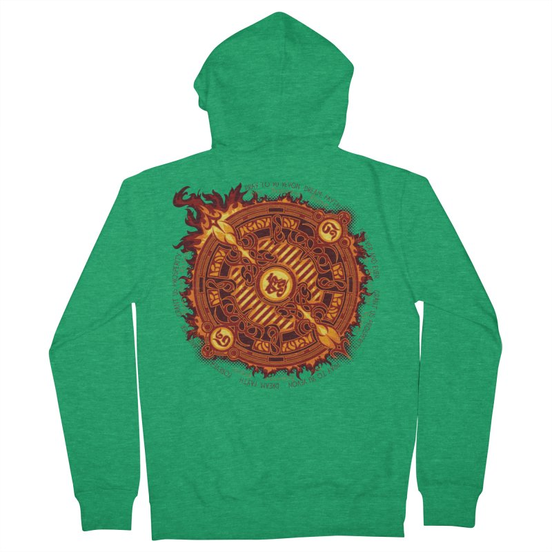 Ifrit Seal Men's French Terry Zip-Up Hoody by hechicero's Magic Shop