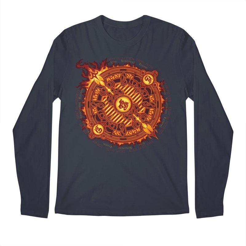 Ifrit Seal Men's Regular Longsleeve T-Shirt by hechicero's Magic Shop