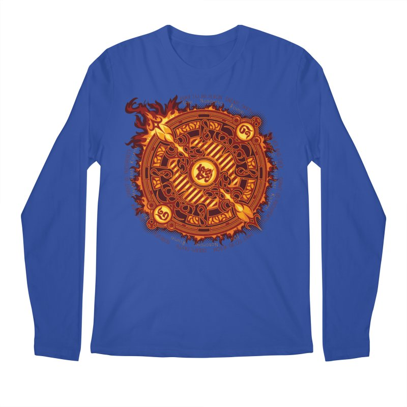 Ifrit Seal Men's Longsleeve T-Shirt by hechicero's Magic Shop