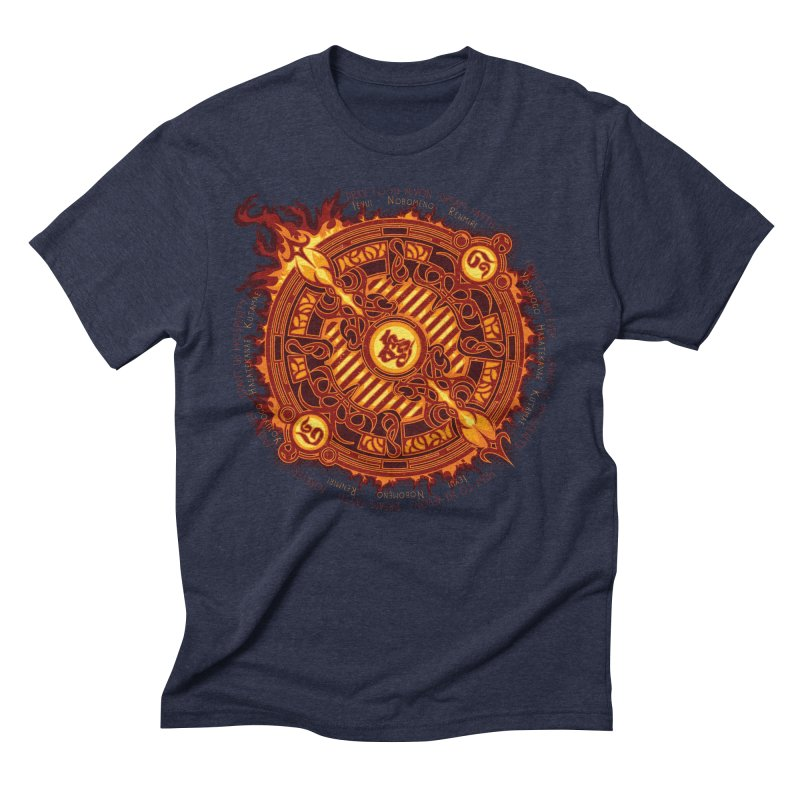 Ifrit Seal Men's Triblend T-Shirt by hechicero's Magic Shop