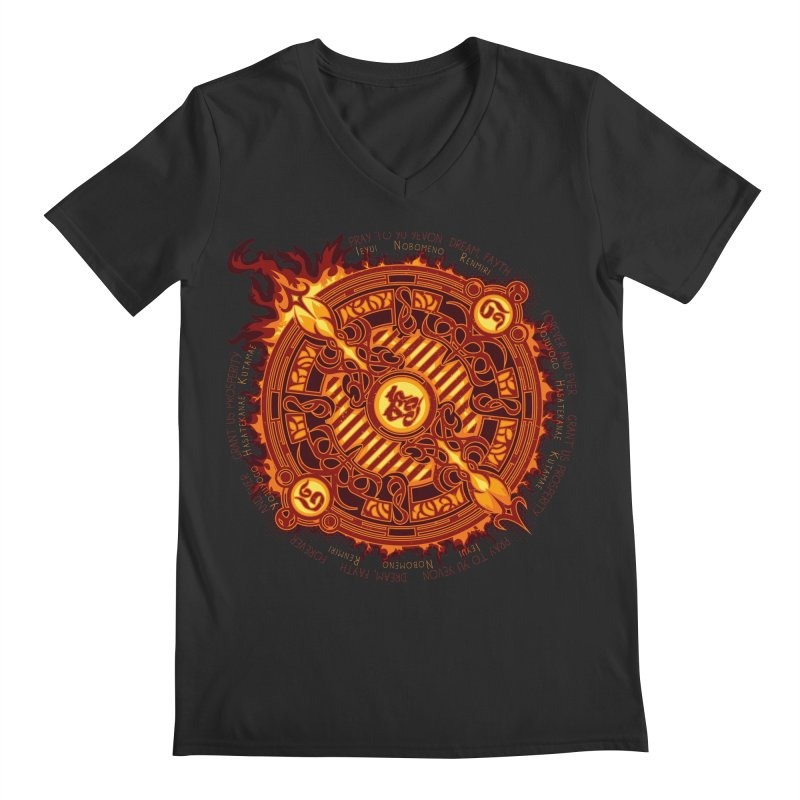 Ifrit Seal Men's V-Neck by hechicero's Magic Shop