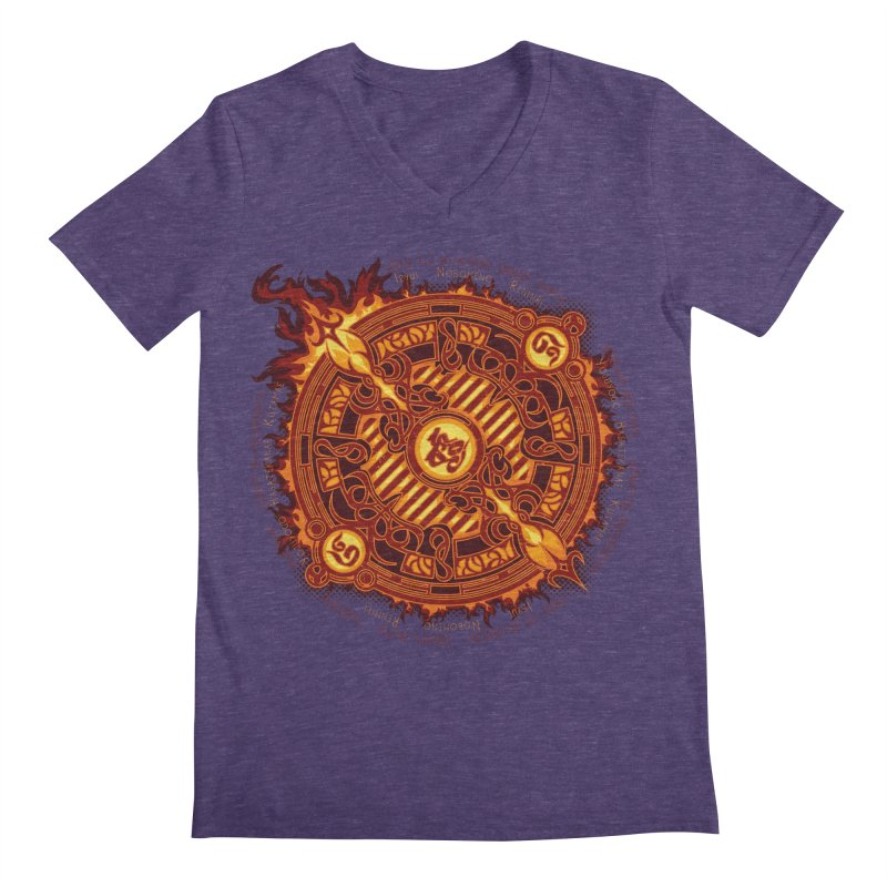 Ifrit Seal Men's Regular V-Neck by hechicero's Magic Shop