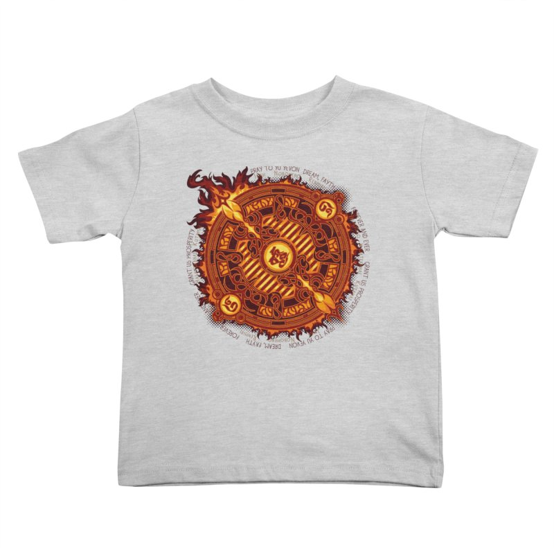Ifrit Seal Kids Toddler T-Shirt by hechicero's Magic Shop